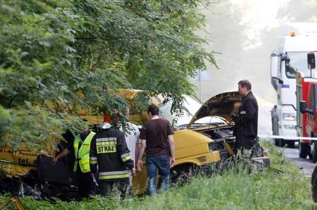 W tym volkswagenie zginęło 5 osób. Przeżył tylko kierowca /PAP
