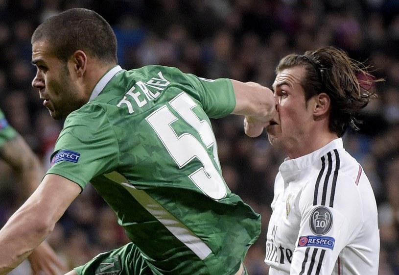 W ubiegłym roku piłkarze Łudogorca (zielone stroje) walczyli w Lidze Mistrzów z Realem Madryt /AFP