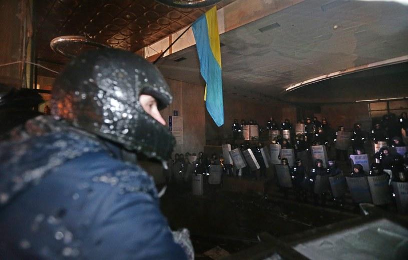 W Ukraińskim Domu przebywało ok. 200 milicjantów /PAP/EPA
