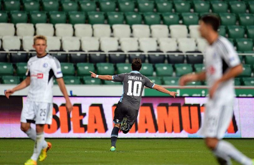 W Warszawie jedynego gola strzelił Gaston Sangoy /AFP