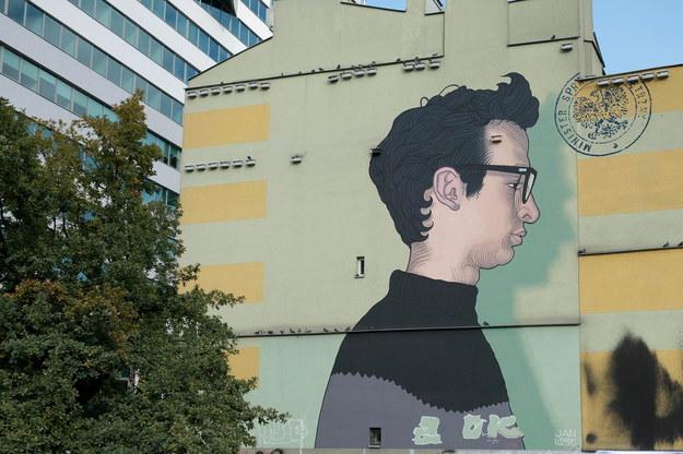 W Warszawie odsłonięto mural Jana Lityńskiego /Mateusz Marek /PAP/EPA