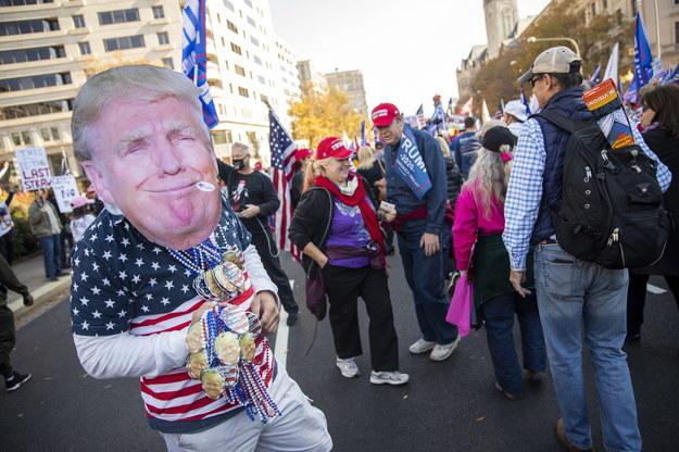 W Waszyngtonie odbył się marsz zwolenników prezydenta Trumpa /SHAWN THEW    /PAP/EPA