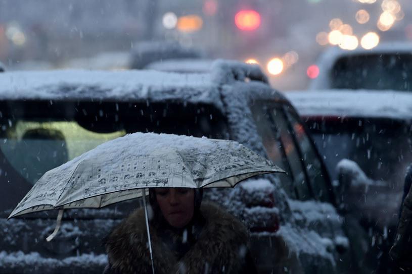 W weekend popada deszcz i śnieg fot. Kirill Kudryavtsev /AFP