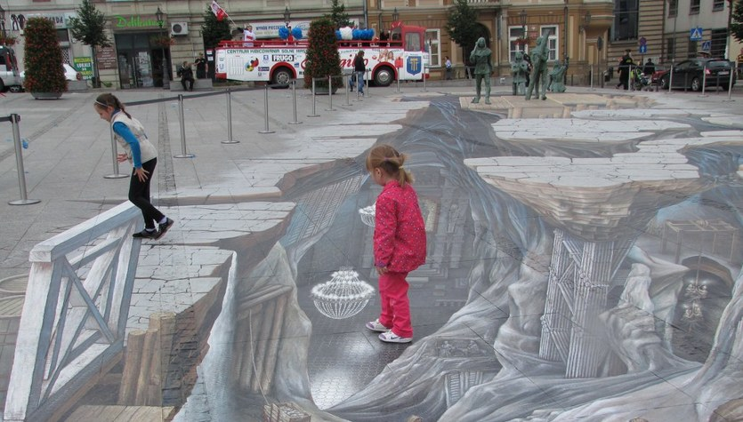 W Wieliczce odsłonięto niezwykłe malowidło 3D