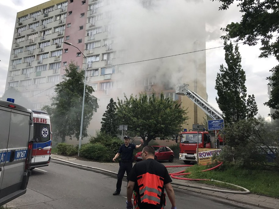 W wieżowcu najprawdopodobniej wybuchł gaz /Aneta Łuczkowska /RMF FM