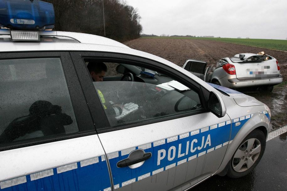 W Wigilię na drodze nr. 60 w miejscowości Bielsk (woj. mazowieckie) rannych zostało 8 osób, w tym czworo dzieci /Marcin Bednarski /PAP