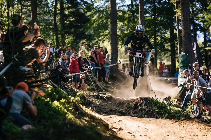 W Wiśle nie brakowało efektownych przejazdów /Fot. Piotr Staroń / Diverse Downhill Contest /