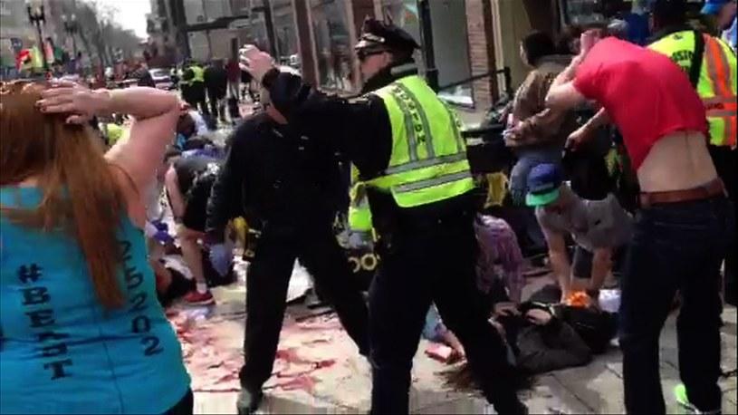 W wybuchach w Bostonie zginęły co najmniej 3 osoby /AFP