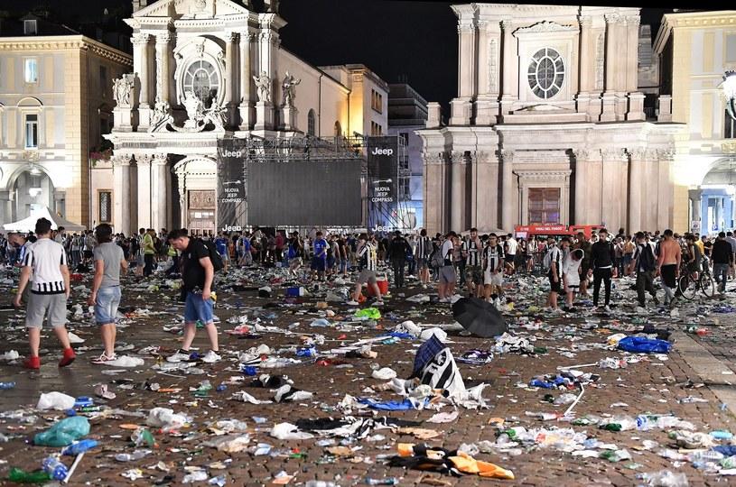 W wyniku masowej paniki w Turynie rannych zostało ponad 1,5 tys. osób /ALESSANDRO DI MARCO  /PAP/EPA