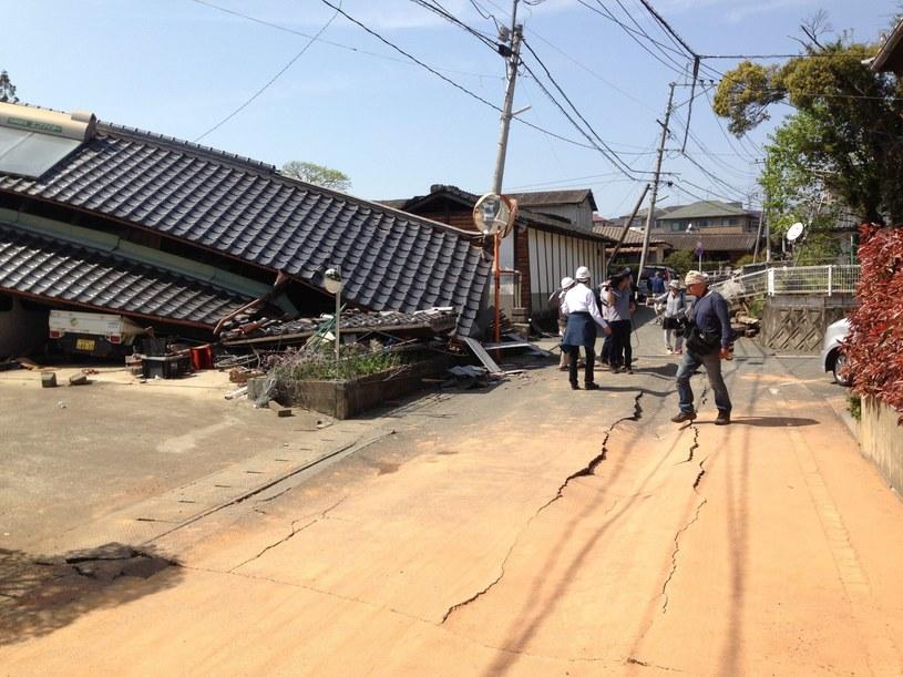 W wyniku trzęsienia zniszczonych zostało wiele budynków /PAP/EPA
