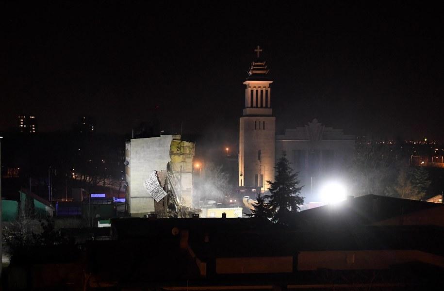 W wyniku wybuchu gazu kamienica częściowo się zawaliła /Jakub Kaczmarczyk /PAP
