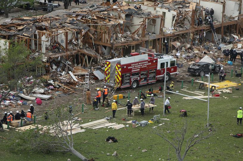 W wyniku wybuchu zniszczeniu uległo wiele budynków /AFP