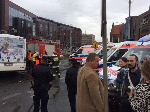 W wypadku poszkodowanych mogło zostać nawet 10 osób /Bartek Paulus /RMF FM