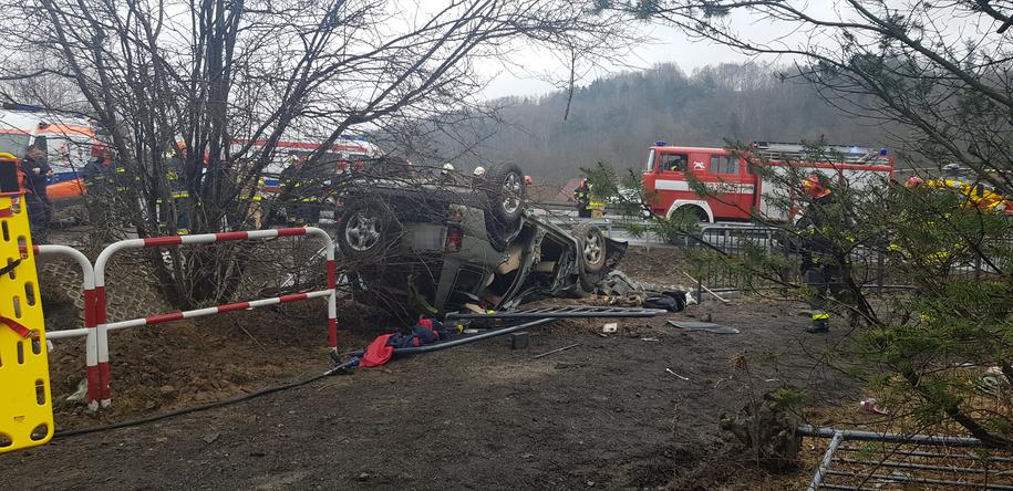 W wypadku ranne zostały trzy osoby /Gorąca Linia RMF FM /Gorąca Linia RMF FM