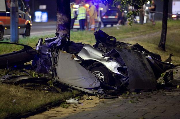 W wypadku samochodowym zginęły trzy osoby /Grzegorz Michałowski /PAP