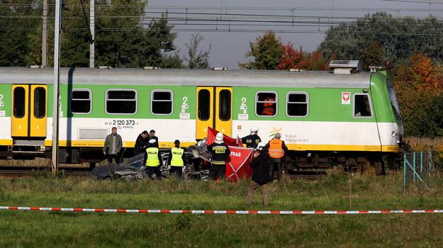 W wypadku w Kozerkach koło Grodziska Mazowieckiego zginęła 36-letnia kobieta /Tomasz Gzell /PAP