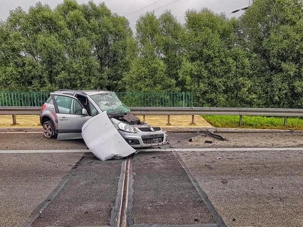 W wypadku zginęła kobieta kierująca suzuki /Policja