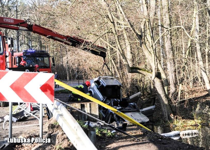 W wypadku zginęło pięcioro nastolatków /Lubuska policja /Policja