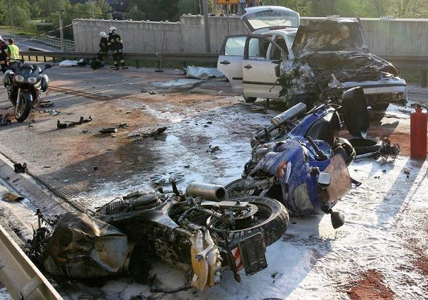 W wypadku zginęło trzech motocyklistów /PAP