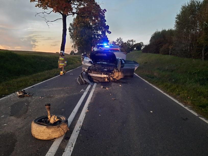 W wypadku zginęły dwie kobiety (Źródło: Policja Olsztyn /Twitter) /Twitter