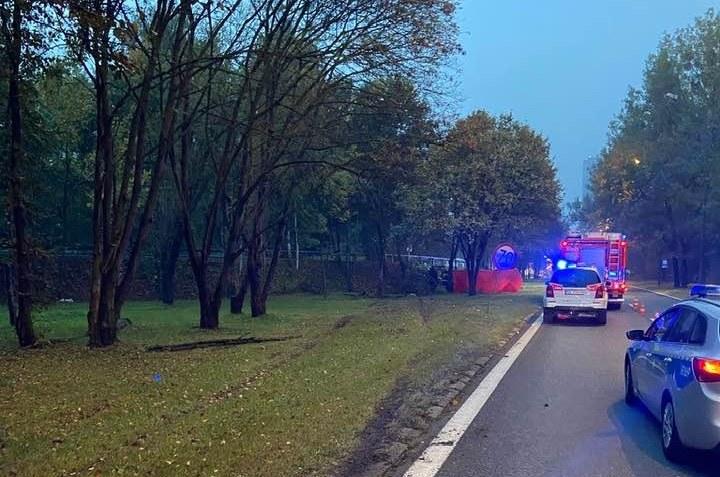 W wypadku zginęły dwie osoby /KM PSP Katowice /facebook.com
