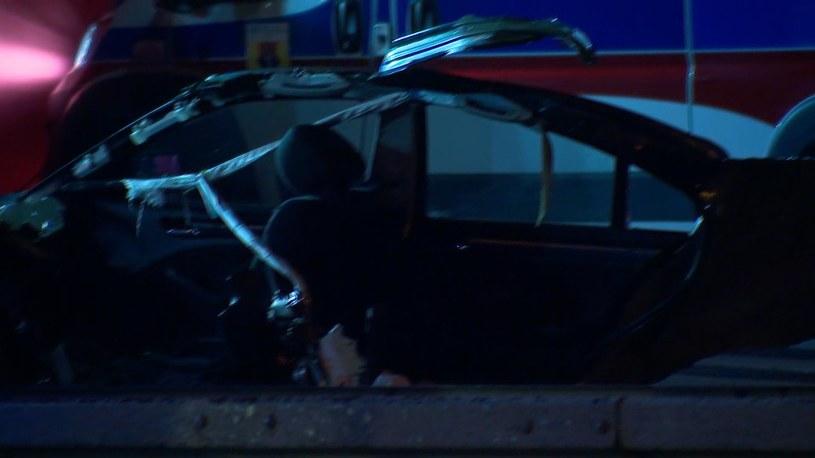 W wypadku zginęły trzy młode osoby /Polsat News