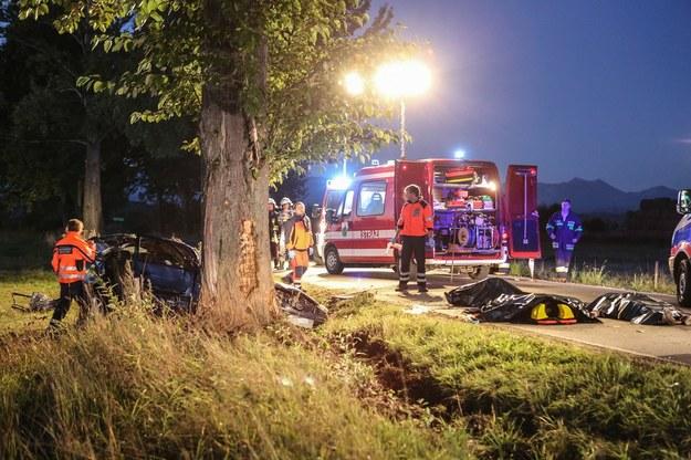 W wypadku zginęły trzy osoby /Michał Adamowski /Reporter