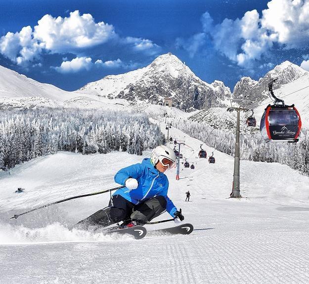 W Wysokich Tatrach panują idealne warunki dla narciarzy. Fot. www.aquacity.sk /
