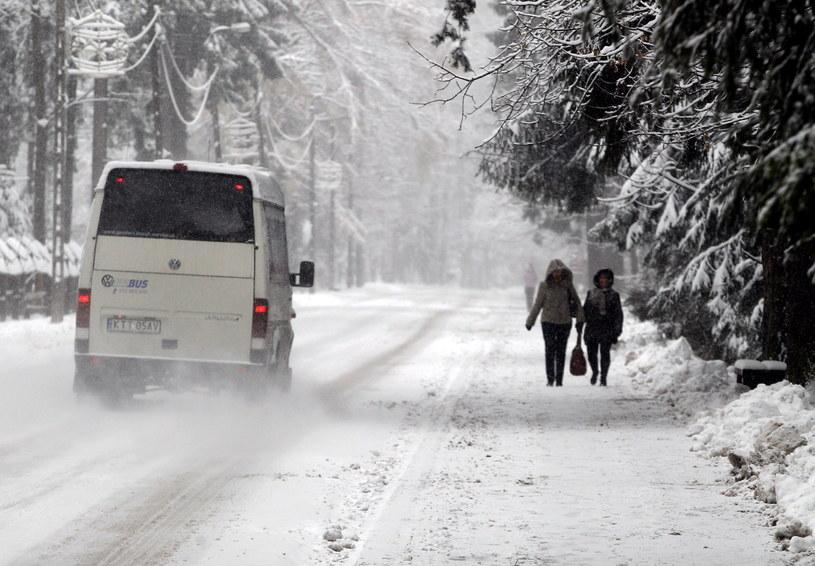 W Zakopanem mocno sypnęło śniegiem /Grzegorz Momot /PAP