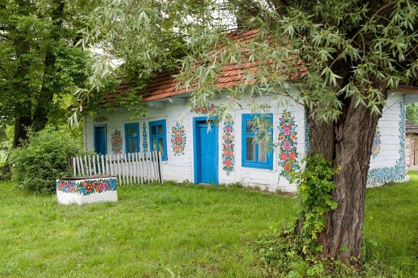 W Zalipiu można podziwiać nie tylko malowane domy, ale też studnie, piece, kapliczki, a nawet budy dla psów /East News