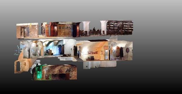 W Zamku Czocha zaprezentowano wyniki skaningu laserowego i fotogrametrii średniowiecznego obiektu /Materiały prasowe