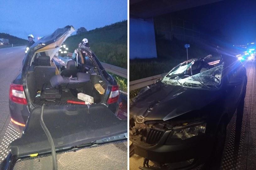 W zderzeniu pojazdu z łosiem na A1 zginął 34-latek /Facebook /materiał zewnętrzny