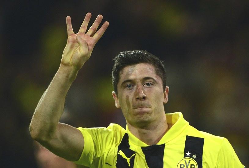 W zeszłym roku Robert Lewandowski strzelił Realowi cztery gole w Dortmundzie /AFP