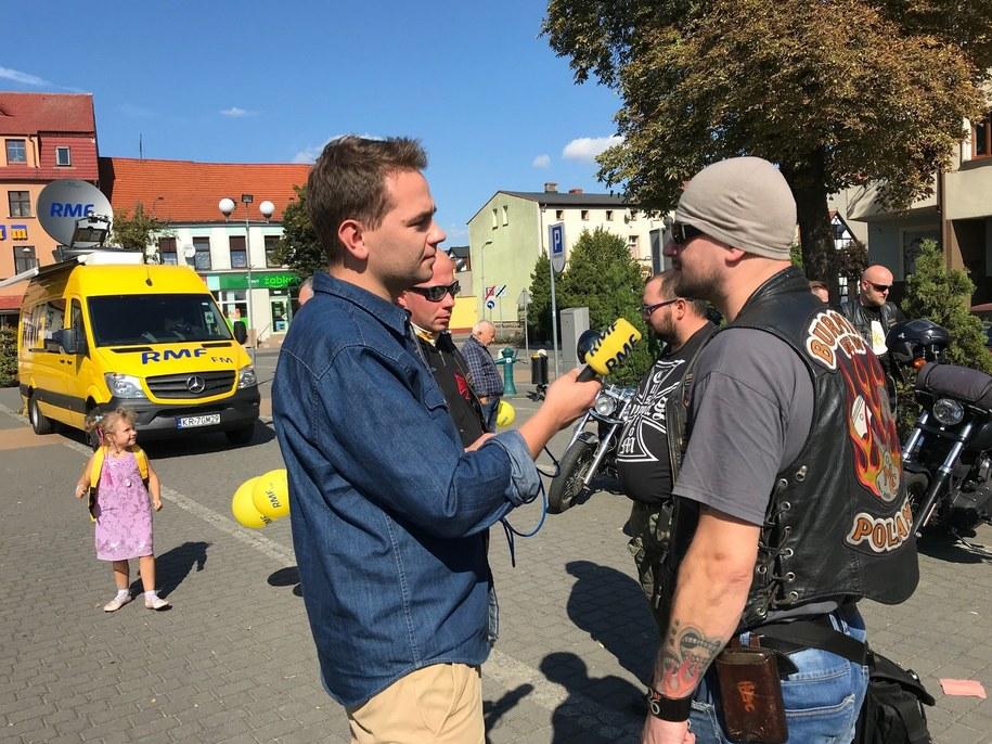 W Złotowie prężnie działa też klub motocyklowy Burning Few /Michał Dukaczewski /RMF FM