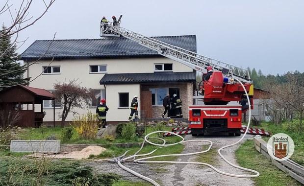 Wąchock: Pożar w domu jednorodzinnym po wybuchu butli z gazem