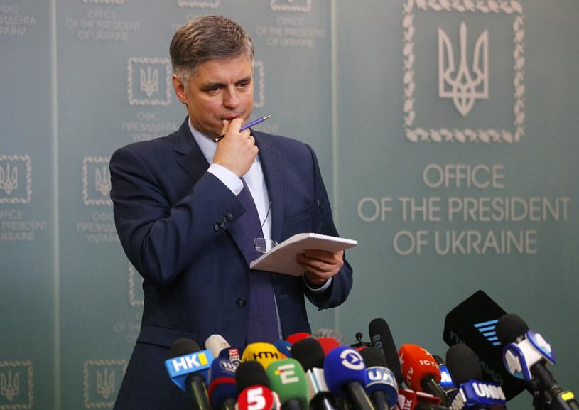 Wadym Prystajko podczas konferencji prasowej w biurze prezydenta Ukrainy /AP Photo/Efrem Lukatsky /East News