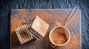 Wafle z masą kakaowo - orzechową