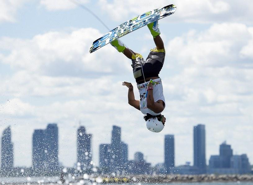 Wakeboarding to widowiskowa konkurencja /AFP
