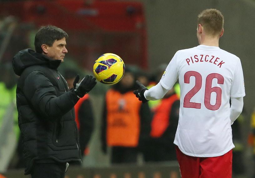 Waldemar Fornalik i Łukasz Piszczek /Leszek Szymański /PAP