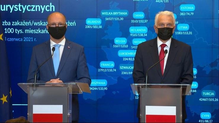 Waldemar Kraska i Piotr Wawrzyk /Polsat News