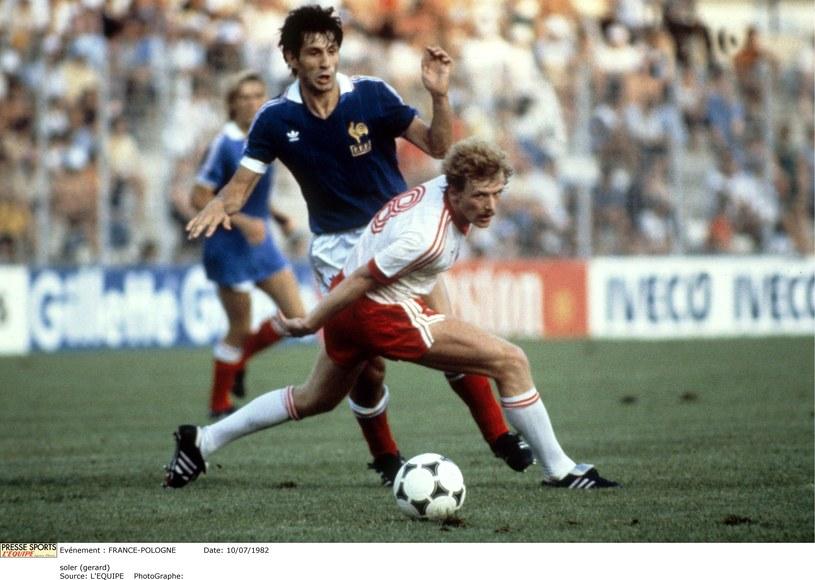 Waldemar Matysik podczas mundialu w 1982 roku; fot: Pressesports / Agencja Przeglad Sportowy /