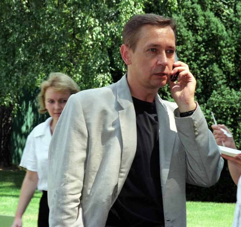 Waldemar Milewicz, 16.07.2002 Bankiet w ogrodach Ambasady Francuskiej /TRICOLORS/EAST NEWS /East News
