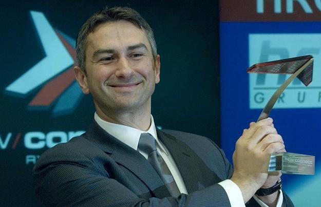 Waldemar Paturej, członek zarządu Grupy HRC, w czasie debiutu na NewConnect /PAP