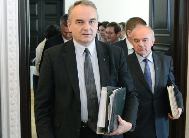 Waldemar Pawlak i Stanisław Kalemba /PAP/Radek Pietruszka    /PAP
