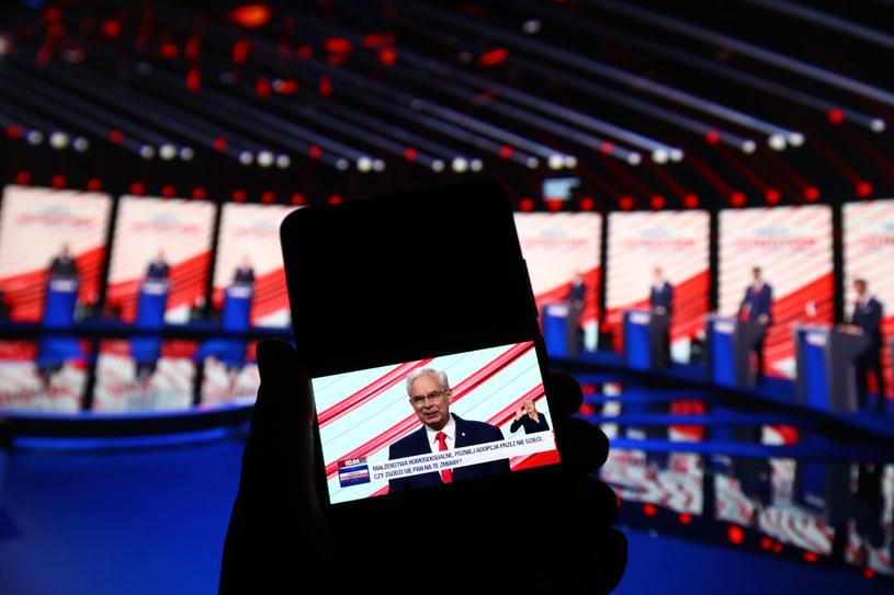 Waldemar Witkowski podczas debaty prezydenckiej, 17 czerwca /Beata Zawrzel /Reporter