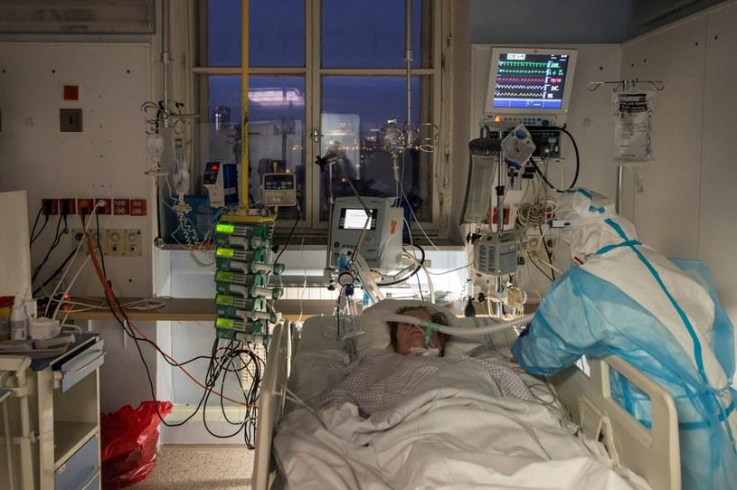 Walka z koronawirusem w szpitalu w Pradze; zdj. ilustracyjne /AFP
