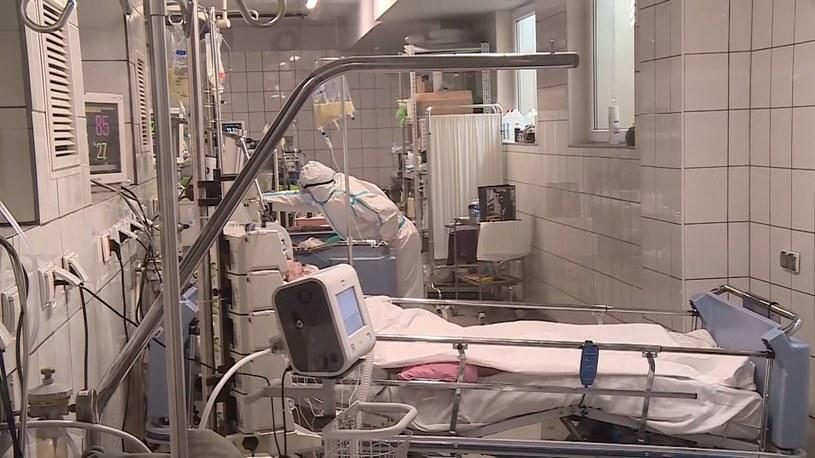 Walka z koronawirusem w szpitalu, zdj. ilustracyjne /archiwum /Polsat News