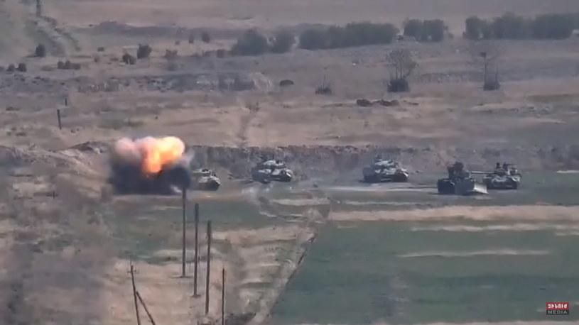 Walki pomiędzy Armenią i Azerbejdżanem. /MINISTRY OF DEFENCE OF ARMENIA HANDOUT /PAP/EPA