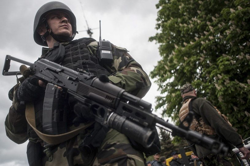 Walki trwają przede wszystkim w okolicach twierdzy separatystów - Słowiańska /PAP/EPA