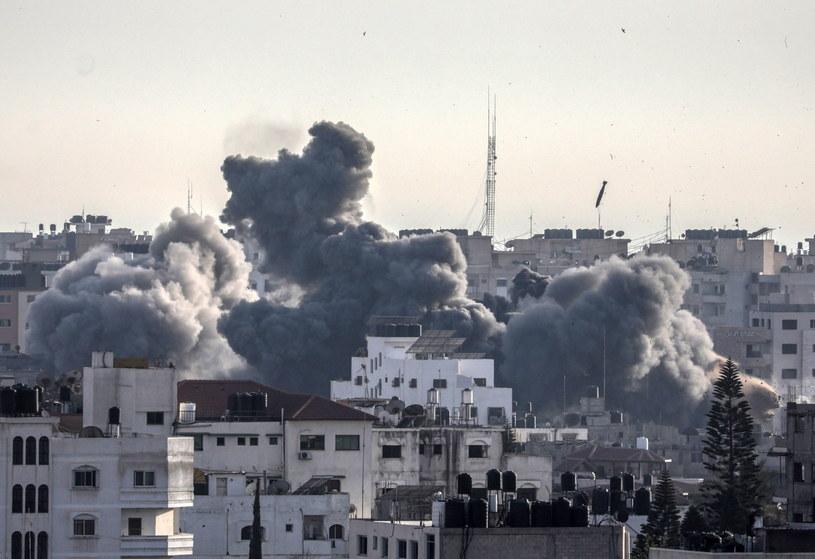 Walki w Strefie Gazy /MOHAMMED SABER  /PAP/EPA